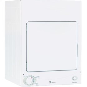 GE Spacemaker® 120V 3.6 cu. ft. Capacity Stationary Electric Dryer