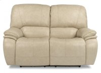 Tobin Leather Power Reclining Loveseat with Power Headrests Product Image