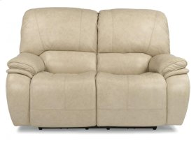 Tobin Leather Power Reclining Loveseat with Power Headrests