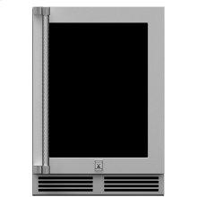 """24"""" Hestan Outdoor Dual Zone Refrigerator with Wine Storage (UV-Coated Glass Door) - GRWG Series"""