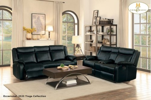8201blk3 In By Homelegance In Orange Ca Double Reclining Sofa