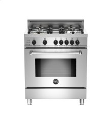 Stainless 30 4-Burner, Electric Self Clean Oven