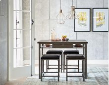 STANDARD 16871-16874 Montvale Entertainment Bar Table With 4 Metal Stools
