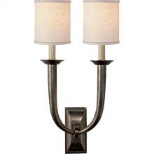 Visual Comfort S2021BZ-L Studio French Deco Horn 2 Light 12 inch Bronze Decorative Wall Light in Linen