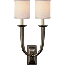 Visual Comfort S2021BZ-L Studio French Deco Horn 2 Light 12 inch Bronze Decorative Wall Light in Linen
