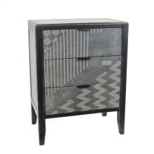 3 Drawer Cabinet, Black