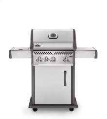 Rogue® 425 Propane Gas Grill with Range Side Burner, Stainless Steel
