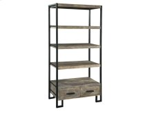 Office@Home Double Drawer Open Shelving Unit