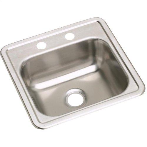 "Dayton Stainless Steel 15"" x 15"" x 5-3/16"", Single Bowl Drop-in Bar Sink"