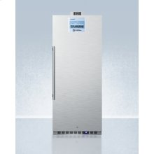 Commercially Approved 10.1 CU.FT. Nutrition Center Series All-refrigerator In White With Front Lock, and Nist Calibrated Digital Temperature Display