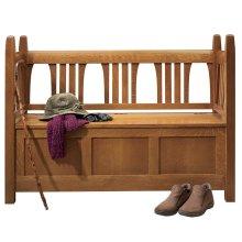 Wood Seat Gus Storage Settle