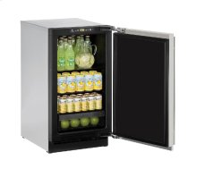 "2000 Series 18"" Solid Door Refrigerator With Stainless Solid Finish and Field Reversible Door Swing"