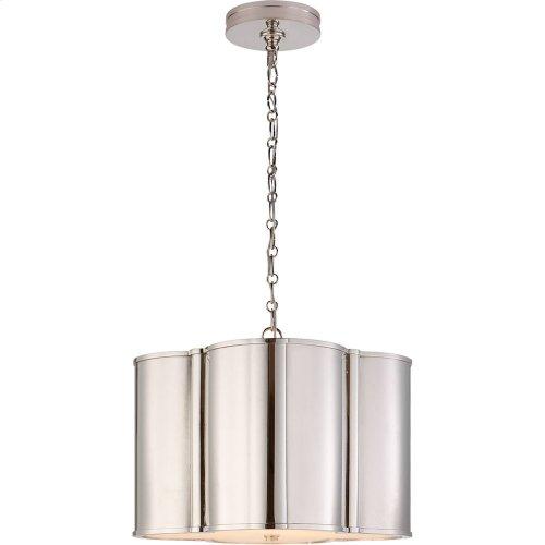 Visual Comfort AH5216PN Alexa Hampton Basil 2 Light 19 inch Polished Nickel Hanging Shade Ceiling Light