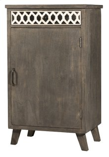 Artesa Low Wine Bar Cabinet - Bone Drawer Fronts - Distressed Brown Gray