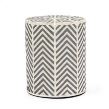 Kiara Side Table - Cream/ Grey