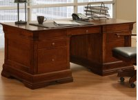 Phillipe 36x72 Desk with 2 File Dwrs & Pencil Dwr/Keyboard Tray Product Image