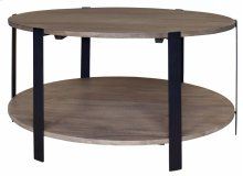Bengal Manor Mango Wood and Metal Round Cocktail Table