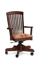 Justine Arm Desk Chair, Fabric Cushion Seat Product Image