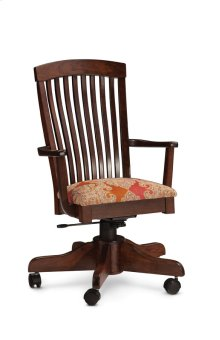 Justine Arm Desk Chair, Justine Arm Desk Chair, Wood Seat