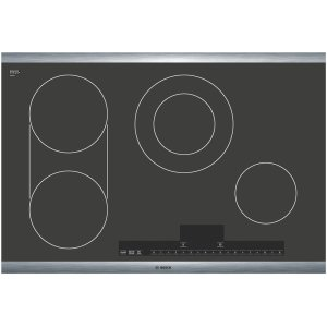 BOSCH30 Stainless Steel Electric Cooktop with Touch Control 500 Series - Black and Stainless Steel
