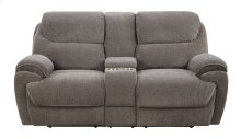 Emerald Home Kramer Motion Console Loveseat Platinum U7060-09-13