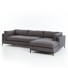 Bennett Charcoal Cover 2 Piece Sectional W/ Raf Chaise Configuration Grammercy Sectional
