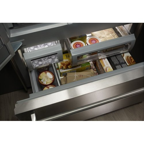 """24.2 Cu. Ft. 42"""" Width Built-In Stainless French Door Refrigerator with Platinum Interior Design - Stainless Steel"""