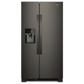 Whirlpool® 36-inch Wide Side-by-Side Refrigerator - 25 cu. ft. - Black Stainless