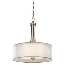 Lacey Collection 4 Light Inverted Pendant  Antique Pewter