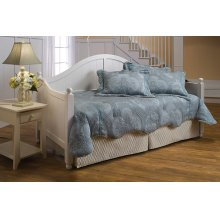 Augusta White Daybed With Deck and Rollout Trundle