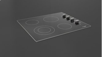 "24"" Radiant Cooktop With Knobs - Black Glass"