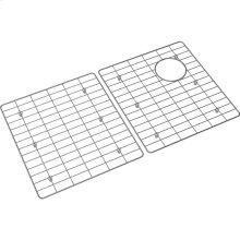 "Crosstown Stainless Steel 28-1/2"" x 15"" x 11/16"" Bottom Grid for Glass Top Sink"