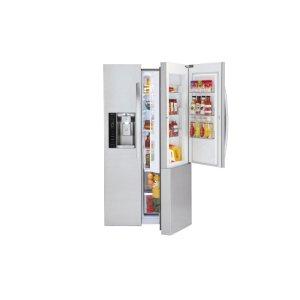 22 cu. ft. Smart wi-fi Enabled Door-in-Door® Counter-Depth Refrigerator - STAINLESS STEEL