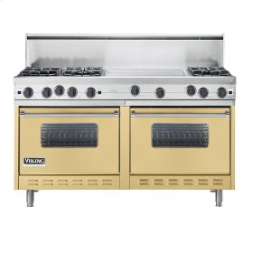 "Golden Mist 60"" Open Burner Commercial Depth Range - VGRC (60"" wide, six burners 24"" wide griddle/simmer plate)"