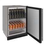 "u-line1000 Series 24"" Outdoor Keg Refrigerator With Stainless Solid Finish and Field Reversible Door Swing"