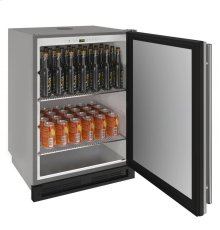 """1000 Series 24"""" Outdoor Keg Refrigerator With Stainless Solid Finish and Field Reversible Door Swing"""