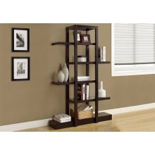 "BOOKCASE - 71""H / CAPPUCCINO OPEN CONCEPT DISPLAY ETAGERE"