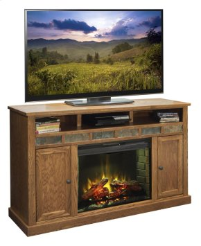 """Oak Creek 62"""" Fireplace Console"""
