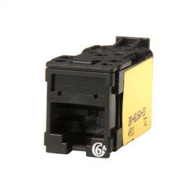 Clarity Cat6a High Density Jack,T568A/B, black