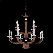 12-LIGHT CHANDELIER - Chrome