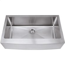 "304 Stainless Steel (16 Gauge) Farmhouse Style Kitchen Sink. Overall Measurements: 35-7/8"" x 20-3/4"" x 10"""