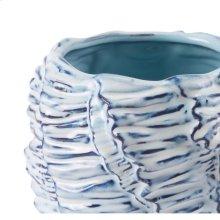 Mar Short Vase Blue & White