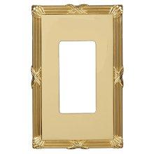 Ribbon & Reed Wall Plate - Polished Brass