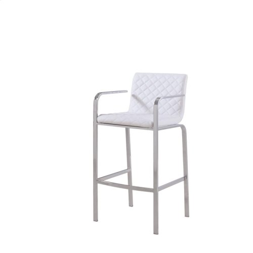 Contemporary White Bar Stool