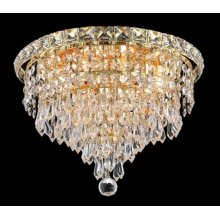 2526 Tranquil Collection Flush Mount Gold Finish