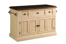 Tuscan Retreat® 3 Drawer 4 Door Large Granite Top Kitchen Island - Country White With Antique Pine T