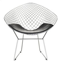 CAD Upholstered Vinyl Lounge Chair in Black