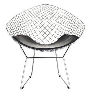 Vinyl Lounge Chair in Black