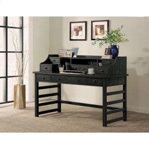 RiversidePerspectives - Leg Desk With Hutch - Ebonized Acacia Finish