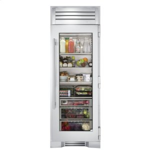 True Residential30 Inch Stainless Glass Refrigerator Column - Left Hinge Stainless Glass